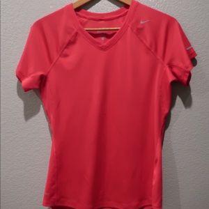 Nike Dri-Fit Hot Pink Short Sleeve Shirt